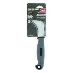 Ace  Linoleum  8-1/4 in. Fixed Blade  Knife  Gray  1 pk