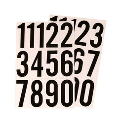 Hy-Ko  11.66 in. Reflective Black  Vinyl  Self-Adhesive  Number Set  0-9  1 pc.