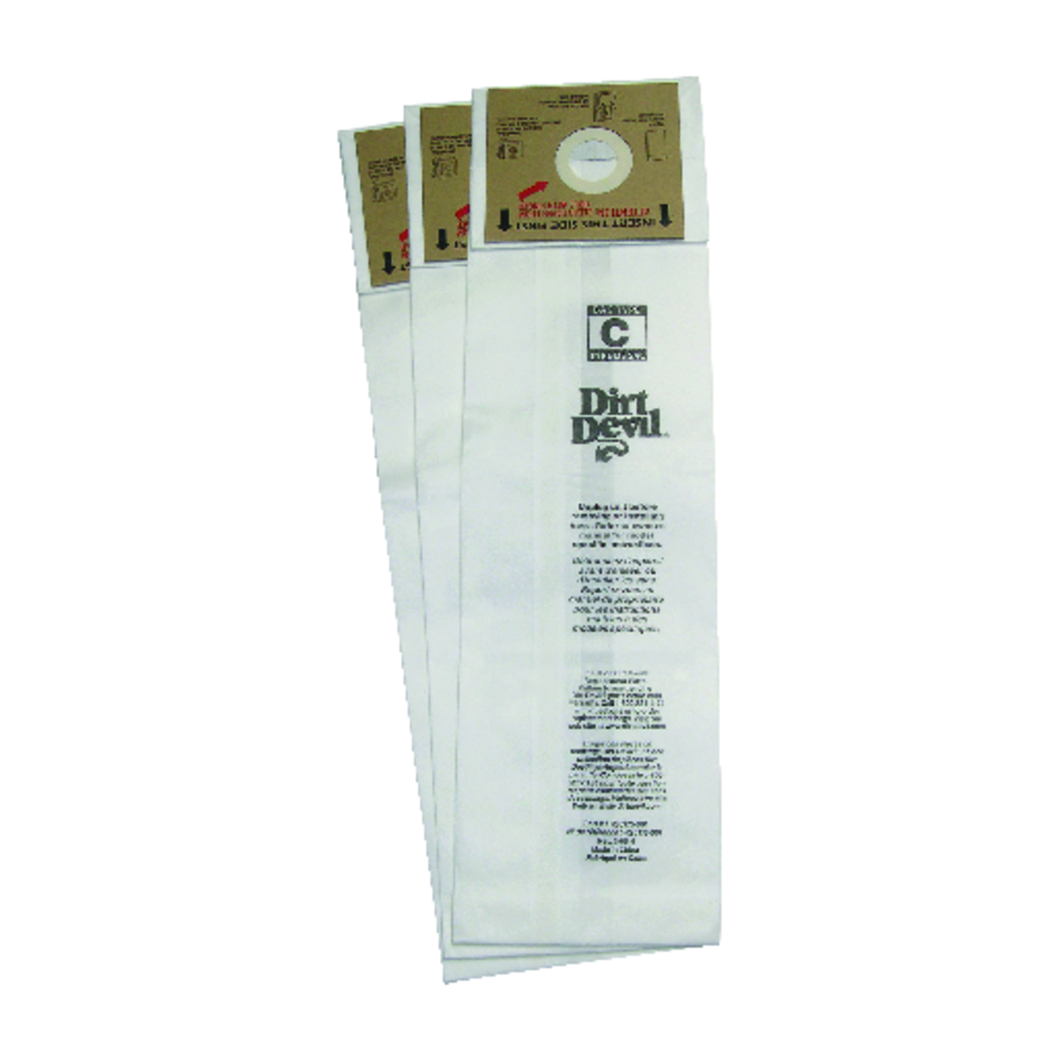 Dirt Devil Royal Vacuum Bag  Type C Fits Royal Carded 3 / Pack Upright