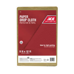 ACE  Heavy Weight  Paper  Drop Cloth  12 ft. L x 9 ft. W