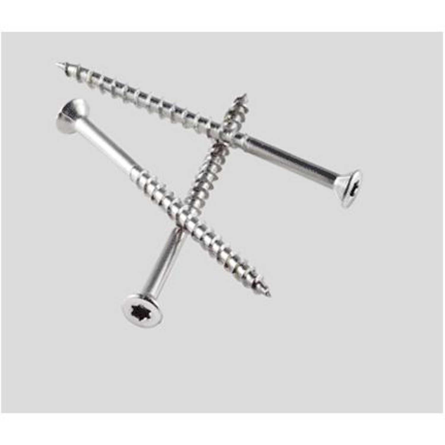 Simpson Strong-Tie  No. 7   x 3 in. L Lobe  Trim Head Coated  Stainless Steel  Deck Screws  3.5 lb.