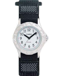 Timex  Unisex  Round  Black  Analog  Watch  Water Resistant Nylon