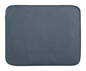 InterDesign  16 in. W x 18 in. L Pewter  Microfiber  Drying Mat