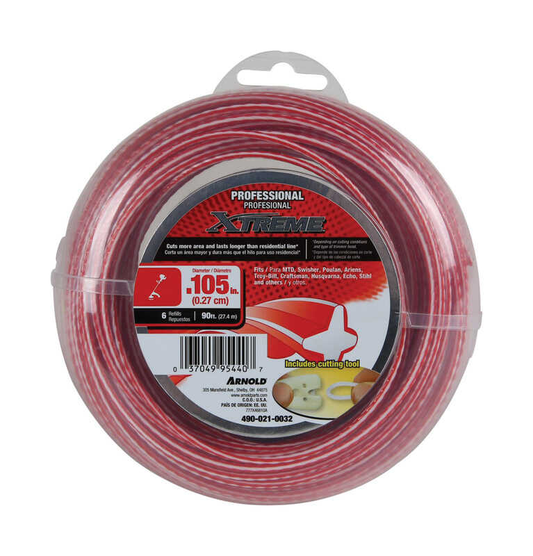 Arnold  Xtreme  Professional Grade  0.105 in. Dia. x 90 ft. L Trimmer Line