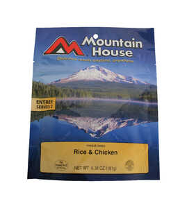 Mountain House  Rice and Chicken  Freeze Dried Food  6.38 oz. Pouch