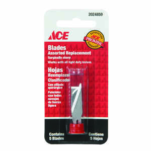 Ace  Carbon Steel  Light Duty  Replacement Blade  5 pk