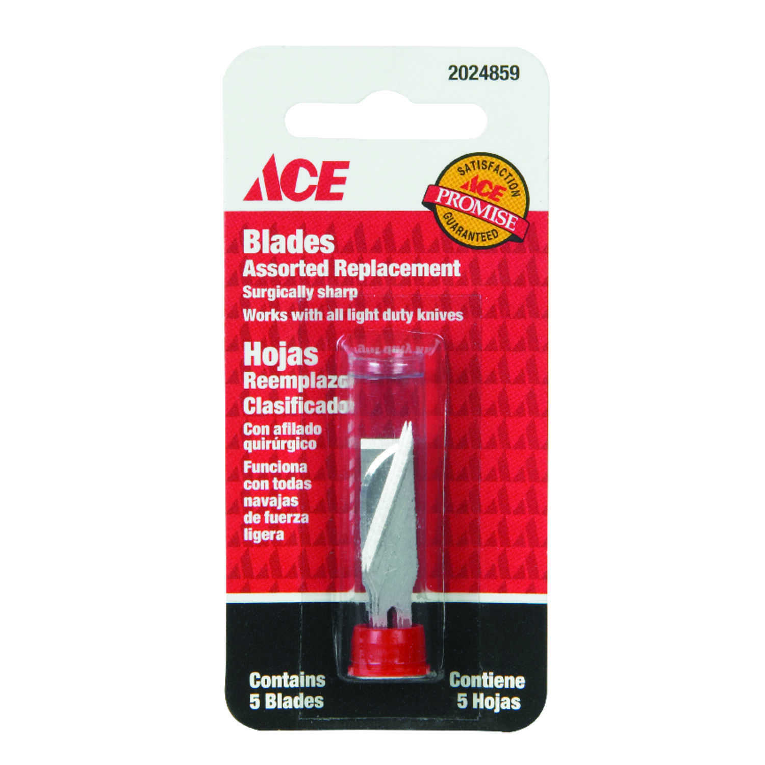 Ace  0.01 in.  Carbon Steel  Light Duty  Replacement Blade  5 pk