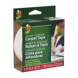 Duck  1.41  W x 42 ft. L Polyester  Indoor and Outdoor  Carpet Tape