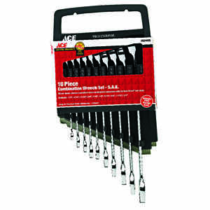 Ace  Multiple   SAE  10 pc. Wrench Set