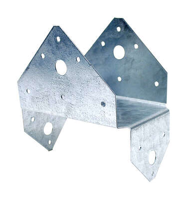 Simpson Strong-Tie 2.5 in. H x 5.5 in. W 18 Ga. Galvanized Steel Half Base
