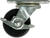 Shepherd  2-1/2 in. Dia. Swivel Soft Rubber  Caster  100 lb. 1 pk