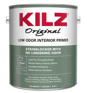 KILZ  Original  White  Flat  Oil-Based  Primer and Sealer  1 gal.