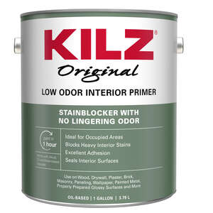 Kilz  Odorless  White  Oil-Based  Primer and Sealer  For Furniture, Woodwork, Drywall, Plaster, Pane