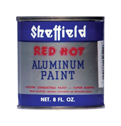 Sheffield Red Hot Silver High Heat Paint 8 oz.