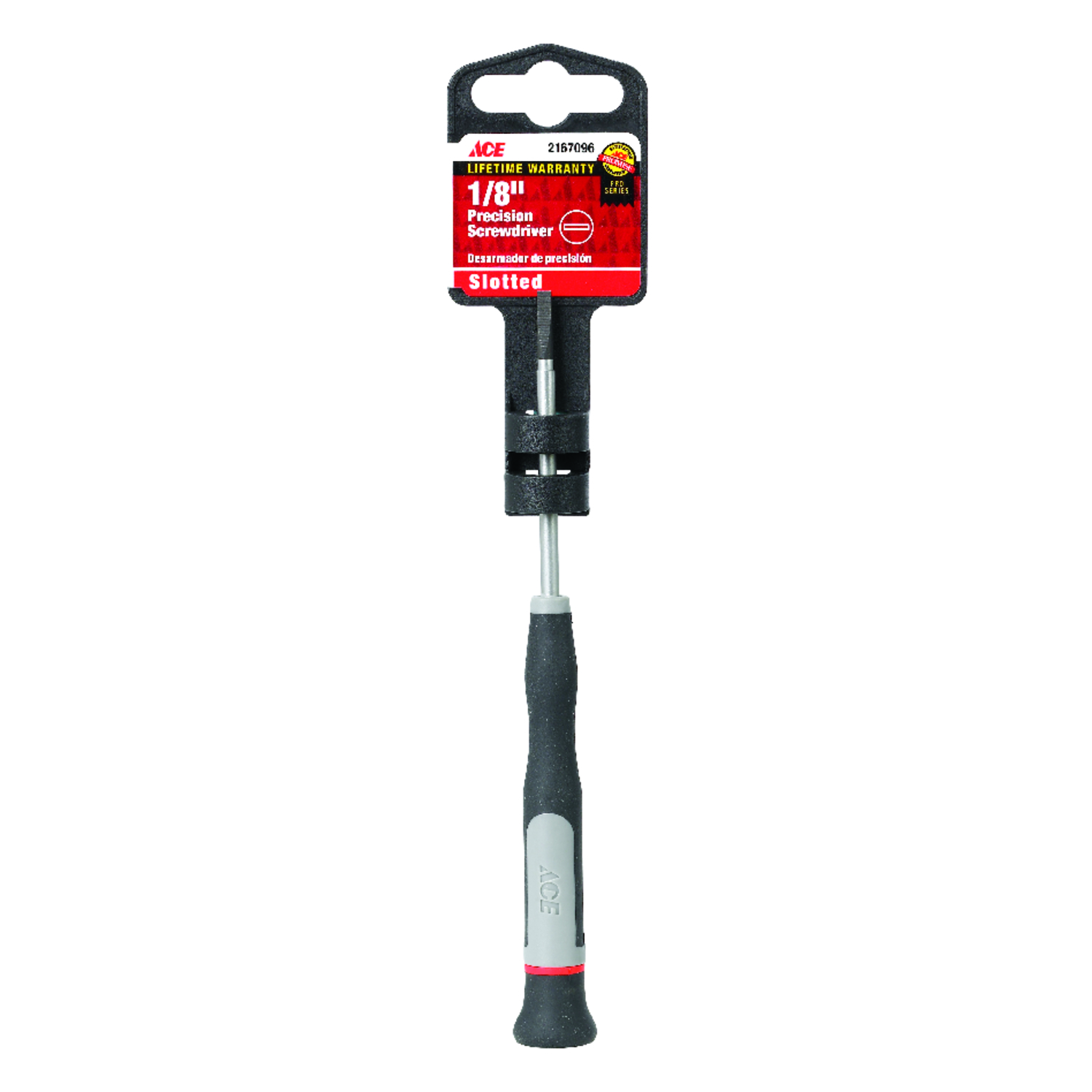 Ace  1/8  2-1/2 in. Precision Screwdriver  Black  1  Slotted  Steel
