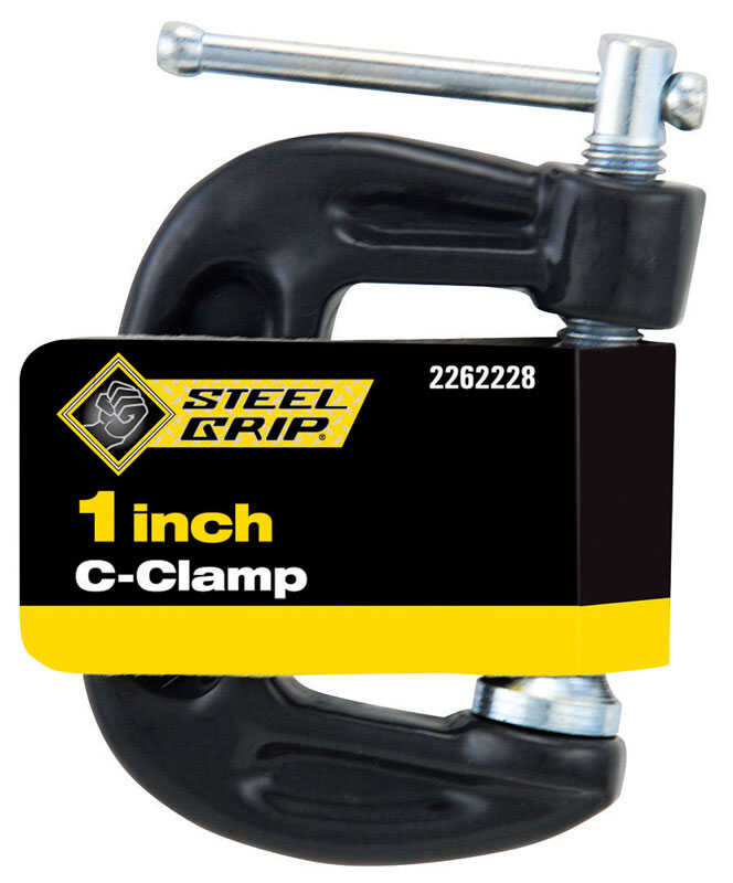 Steel Grip  1   Steel  Adjustable  C-Clamp