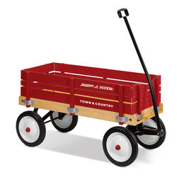 Radio Flyer  Town and Country  Toy Wagon  Wood  Red