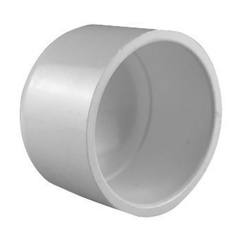 Charlotte Pipe  Schedule 40  2-1/2 in. Socket   x 2-1/2 in. Dia. Socket  PVC  Cap
