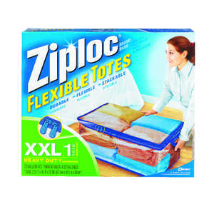 Ziploc  Flexible  12 in. H x 2.2 ft. W x 16 in. D Storage Tote