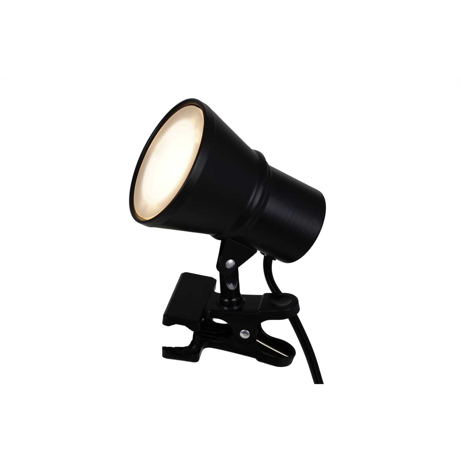 Living Accents  4-3/4 in. Semi-Gloss  Black  Mini Clip-On Lamp