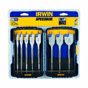 Irwin  Speedbor  Multi Size  Dia. x Multiple  L Carbon Steel  Wood Boring Bit  8 pc.