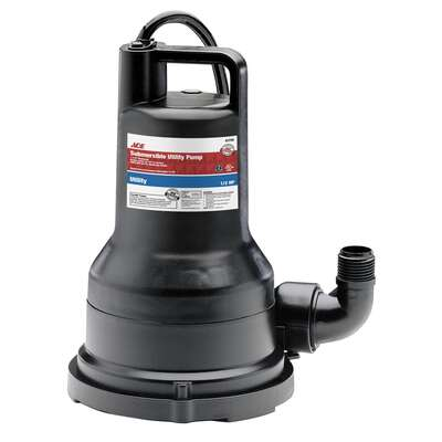 Ace  1/2 hp 2600 gph Thermoplastic  Switchless  AC  Utility Pump