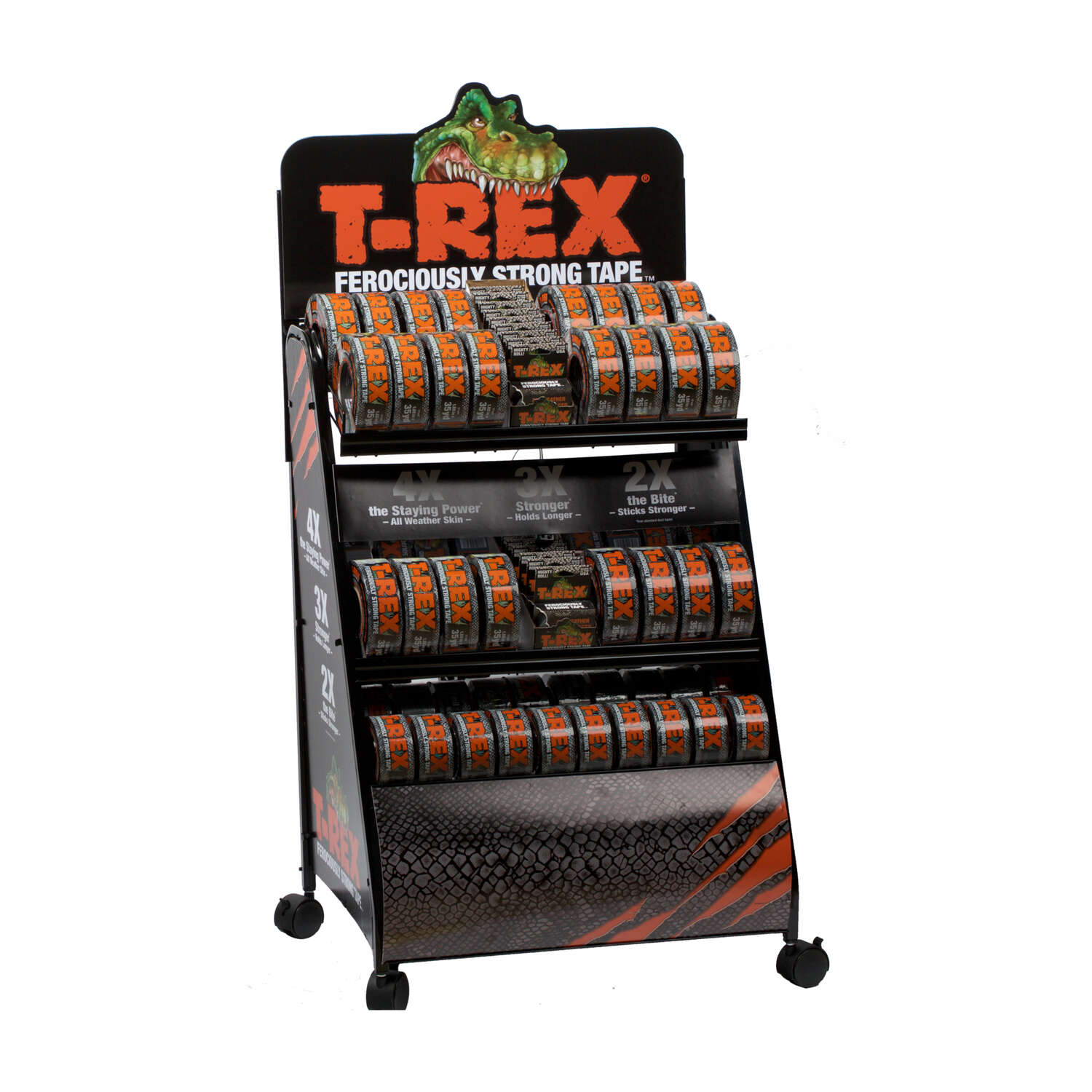 T-Rex  105 ft. L x 1.88 in. W Gray  Duct Tape