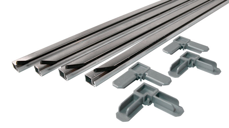 Prime-Line  Aluminum  3/4 in. W x 3/4 in. L Screen Frame Kit  9 pc. Silver