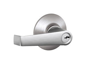 Schlage  Traditional  Satin Chrome  Entry Lever  ANSI Grade 2  1-3/4 in.