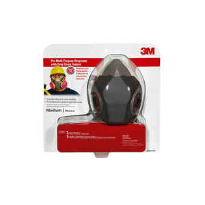 3M  P100  Half Face Respirator  Valved Gray  1 pc.