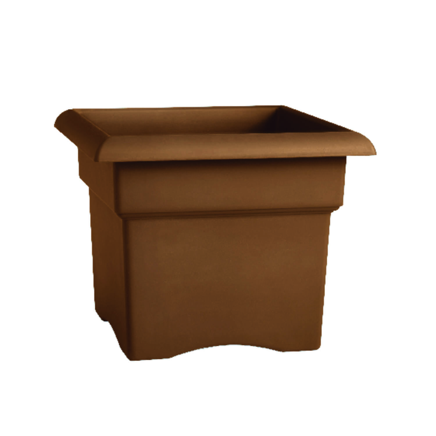 Bloem  11 in. H x 14 in. W Chocolate  Resin  Veranda  Planter