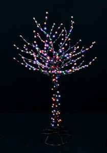 Santa's Best  LED Bare Branch Tree  Christmas Decoration  Multicolored  Metal  1 each