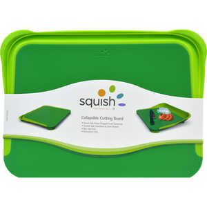 Squish  10.5 in. W x 14 in. L Green  Collapsible Cutting Board