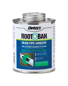 Christys  Root-Ban  Drain Pipe Adhesive  For PVC Blue  16 oz.