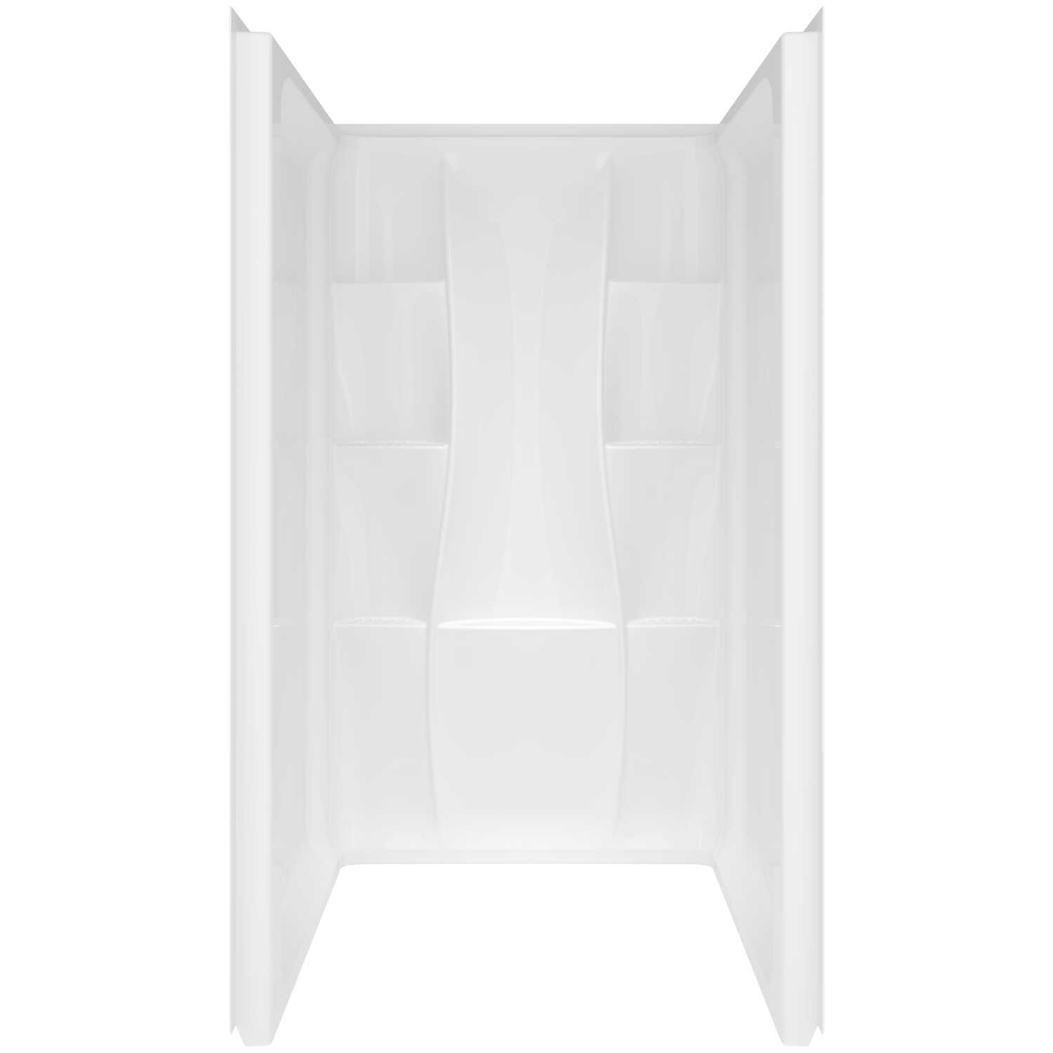 Delta Bathing System  Classic  74 in. H x 36 in. W x 36 in. L White  Rectangle  Acrylic  Shower Wall