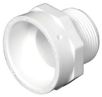 Charlotte Pipe 4 in. Hub x 4 in. Dia. MPT PVC Pipe Adapter