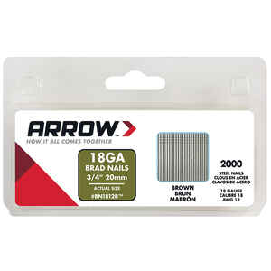 Arrow Fastener  BN18  18 Ga.  x 3/4 in. L Galvanized  Steel  Brad Nails  2000 pk 0.8 lb.