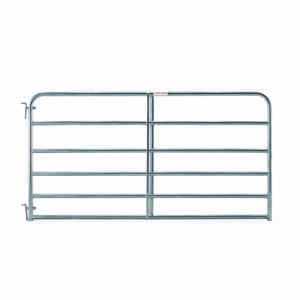 Tarter  50 in. H x 1.75 in. W 8 ft. Galvanized Steel  Tube Gate