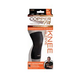 Copper Fit Black Compression Knee Sleeve 1 pk