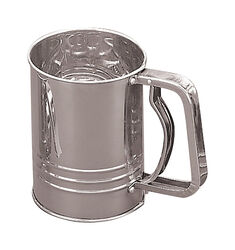 Fox Run  4 in. W Silver  Stainless Steel  Flour Sifter