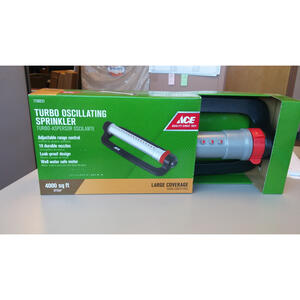 Ace  Plastic  Sled Base  Oscillating Sprinkler  3700 sq. ft.