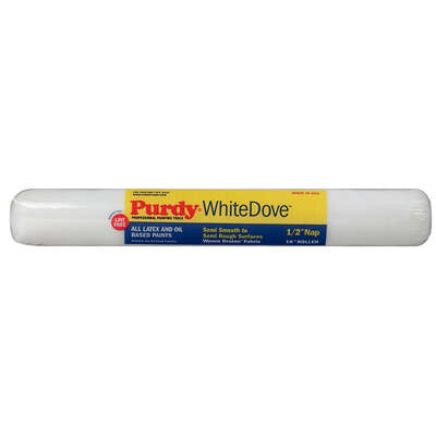 Purdy  White Dove  Dralon  18 in. W x 1/2 in.  Regular  Paint Roller Cover  1 pk