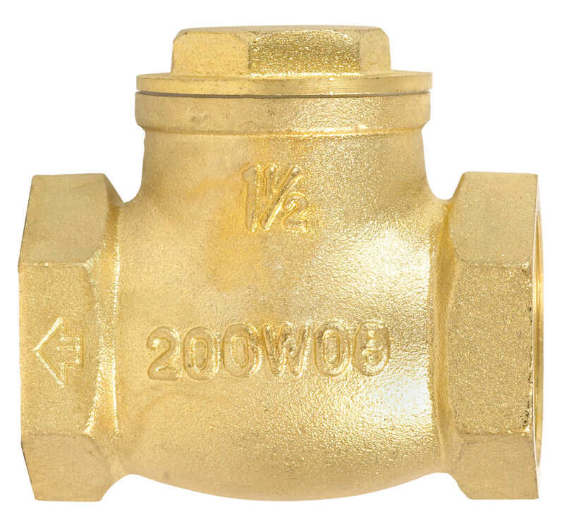 Mueller  1-1/2 in. Dia. 1-1/2 in. IPS  Brass  Swing  Check Valve