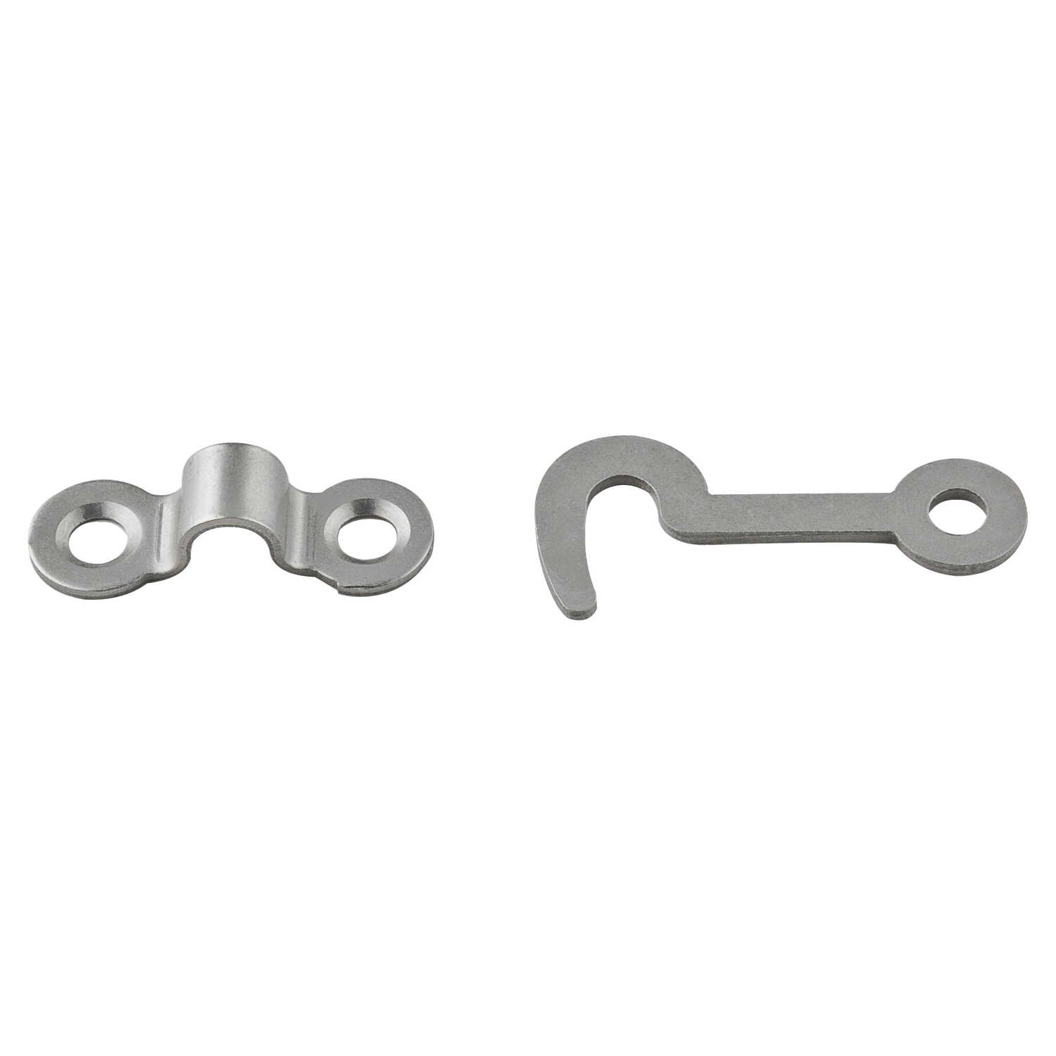 National Hardware  Satin Nickel  Steel  Hook and Staple  2 pk 1-5/16 in.