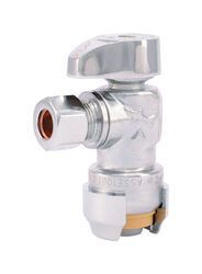 SharkBite 1/2 in. Compression x 3/8 in. Compression Brass Angle Stop Valve