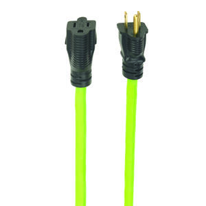Woods  Extreme Green  Outdoor  25 ft. L Green  Extension Cord  12/3 SJOW