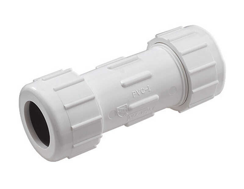 NDS  Schedule 40  3 in. Compression   x 3 in. Dia. Compression  PVC  Coupling