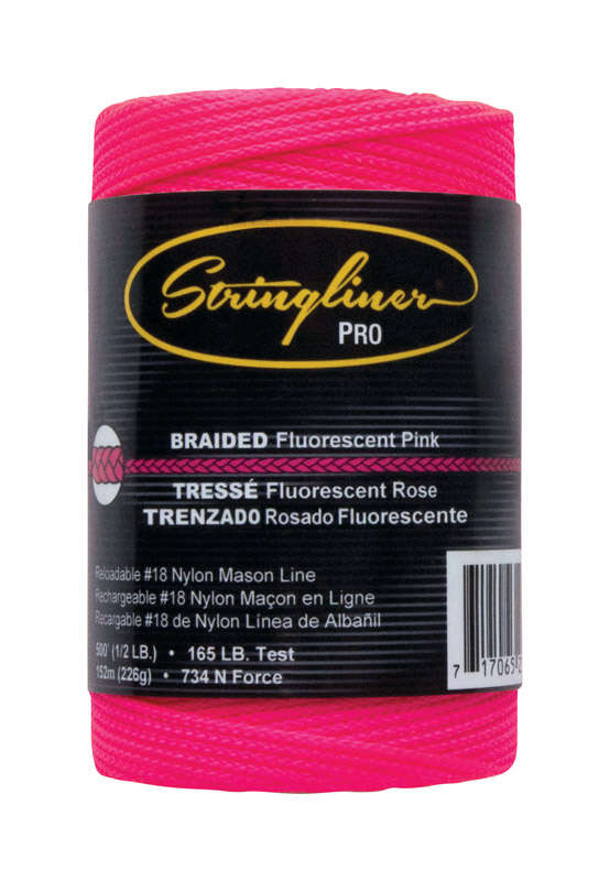 Stringliner Pink Braided Chalk Line Refill 500 ft.