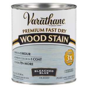 Varathane  Premium Fast Dry  Semi-Transparent  Bleached Blue  Wood Stain  1 qt.
