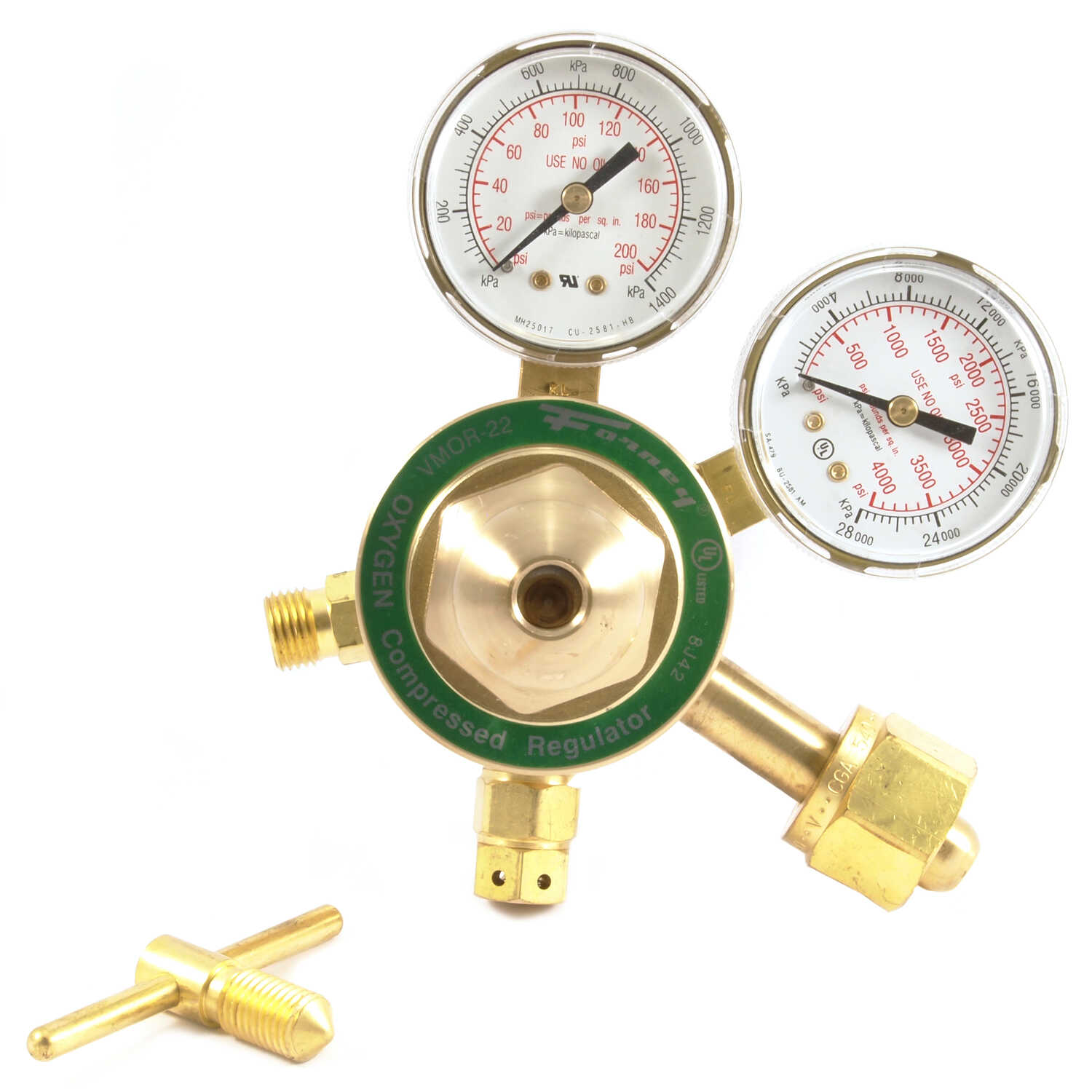 Forney  7.75 in. L x 8.625 in. W Welding Oxygen Regulator  1 pc.